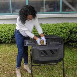 EJWOX Composting Tumbler 43 Gallon, Dual Rotating Compost Bi