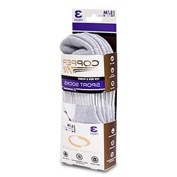 Copper Fit Compression Ankle Socks 3 Pair Unisex Sm / Med  W