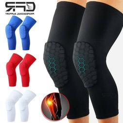Compression Long Sleeve Support Leg Knee Pad Brace Sport Pai