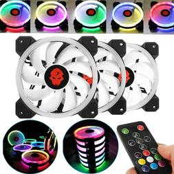 Computer Case PC RGB Cooling Fan Adjust LED 120mm Quiet Cool