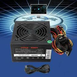 Computer Gaming Power Supply 500~1000W PSU PFC ATX 24pin Sat