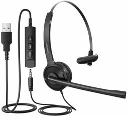 Mpow Computer PC Headset 3.5mm/USB Noise Cancelling Wired Ca