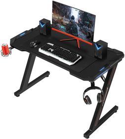 Computer Racing Gaming Desk Home Office Desk Z-Shaped Gamer