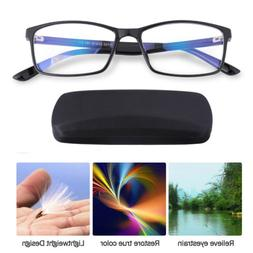 Computer Reading Glasses Anti-Glare Eye Strain Blue Light UV