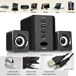 Mini Computer Speakers USB PC Laptop Desktop System with Ste