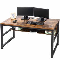 Computer Desk PC Workstation Study Writing 25mm Table Shelf