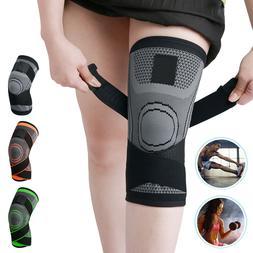Copper Compression Knee Sleeve Brace Patella Support Fit Spo
