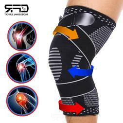 Copper Compression Knee Support Brace Sport Joint Wrap Arthr