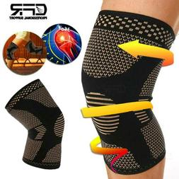 Copper Knee Brace Support Compression Sleeve Football Joint