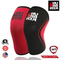 crossfit knee sleeve kneecap 7mm support men