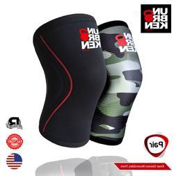Crossfit knee sleeve kneecap 7mm support men women comp. Reh