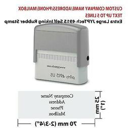 Custom Company Name/Address/Phone/Mailbox 4915 Self Inking R