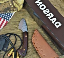 "Custom Handmade High Carbon Steel Mini Camp knife 5"", Rose W"