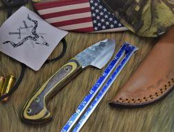 "Custom Handmade High Carbon Steel Mini Camp knife 5"", EDC.."