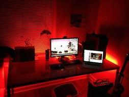 Gaming Computer Desk LED Lights --- Office / Home LIght