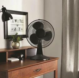 "Dorm Room Desk Fan 12"" 3-Speed Oscillating Sturdy Adjustable"