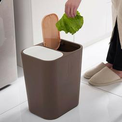 Double Trash Can Bin 15L 2-Compartment Waste Storage Twin Li