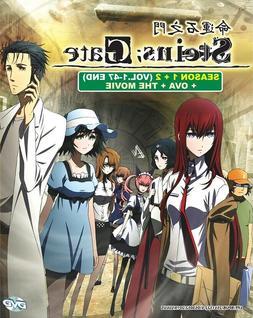 DVD Anime Steins; Gate Complete Series Season 1+2  +Movie +O