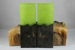 DYED HYBRID MAPLE LIME GREEN GLITTER COMP KNIFE HANDLE MATER
