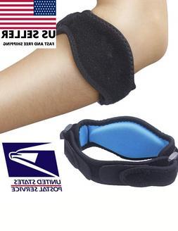 Elbow Brace Compression Pad Tendonitis Tennis Golf Racquetba