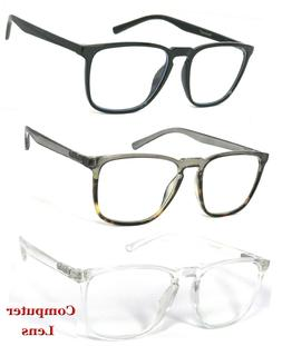 Fashion Square Computer Glasses Anti Blue Light Blocking Len