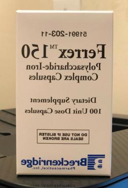 Ferrex 150 Polysaccharide-Iron Complex Dietary Supplement 10