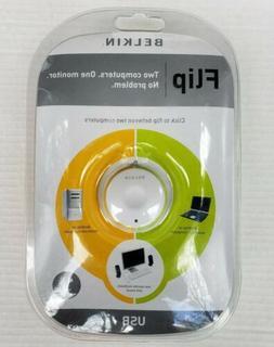 Belkin Flip 2-Port External KVM VGA Video Switch USB Two Com