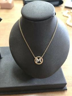 """Gabriel And Co 14k Gold Diamond """"M"""" Initial Necklace"""