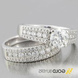 Gabriel & Co. 14k White Gold 2.25ctw Diamond Engagement Wedd