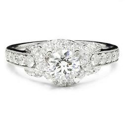 Gabriel & Co Amavida Round Diamond Criss Cross Engagement Ri