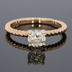 Gabriel & Co Rose Gold GIA Certified Round Diamond Solitaire