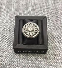 Gabriel& Co Sterling Silver 925 Diamond Filigree Dome Ring
