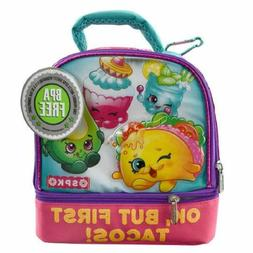 Shopkins Girl's 2 Compartment Thermal Lunch Bag New With Tag