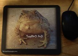 Got Coffee? Mouse Pad Frog Toad Computer Novelty Funny Custo