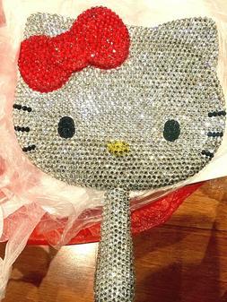 Handheld diamond hello kitty Crystal Compact Mirror Portable