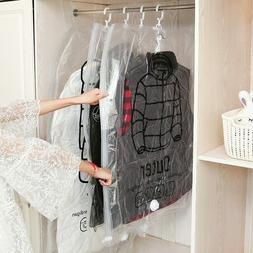 Hanging clothes compression bag storage bag transparent larg