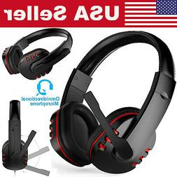 Stereo Gaming Headset w/Mic Ergonomic Adjustable Headphone F