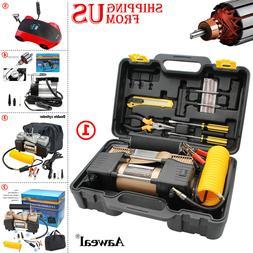 12V Car Tire Pump HEAVY DUTY Portable Air Compressor Inflato