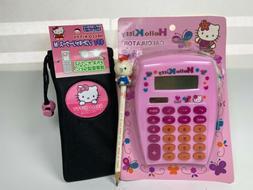 Hello Kitty Glitter Calculator Sunglasses Telephone Case Pen