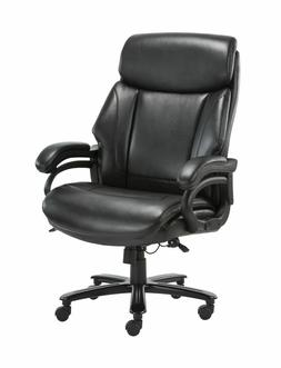 High Back Big & Tall 400lb Bonded Leather Office Chair Large