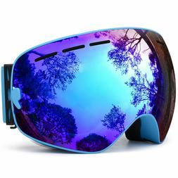 HONGDAK Ski Goggles, Snowboard Goggles UV Protection, Snow G
