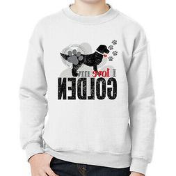 I love my GOLDEN Kids Sweatshirt Companion Smart Dog Long Sl