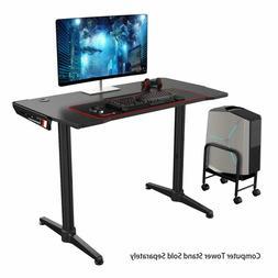 Eureka Ergonomic® I1 Black Curve Design PC Gaming Table Wit