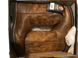 Justin Work Boots comp toe wk4824 brown Stampede Collection