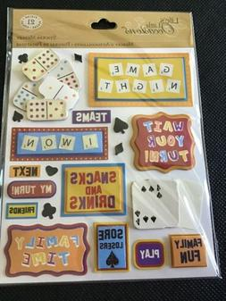 k & company Dimensional Craft stickers Game Night Cards