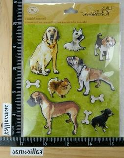 K&Company DOGS Stickers 3D VARIETY BOXER BEAGLE CHIHUAHUA LA