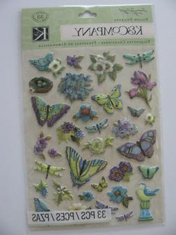 K & COMPANY Pillow STICKERS SW Botanical Icon Butterfly NIP