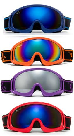 kids snow ski goggles dual lens w