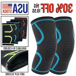 Knee Compression Sleeve Brace Support Gym Sport Run workout