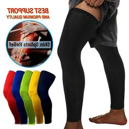 Knee High Leg Sleeve Support Compression Socks Men Women Spo